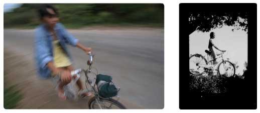 Bà nội et Elisa font du vélo