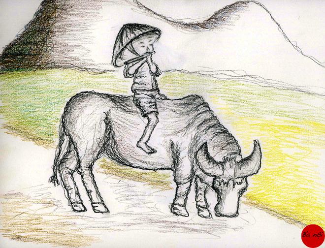 enfant-paysage-vietnam-campagne-asie-dessin-image