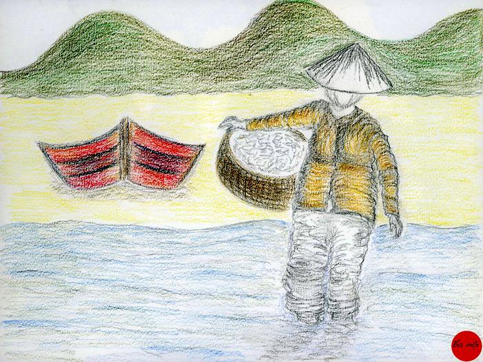 Vietnam-paysage-pecheur