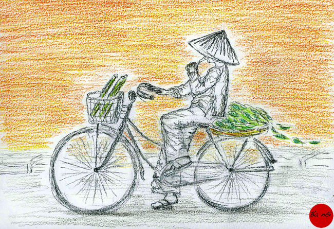 femme velo- ville Vietnam