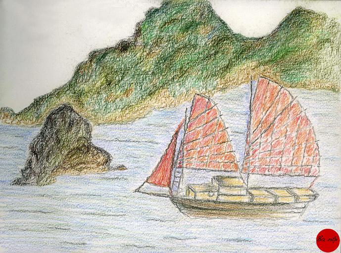 paysage-vitenam-sampan-baie-along