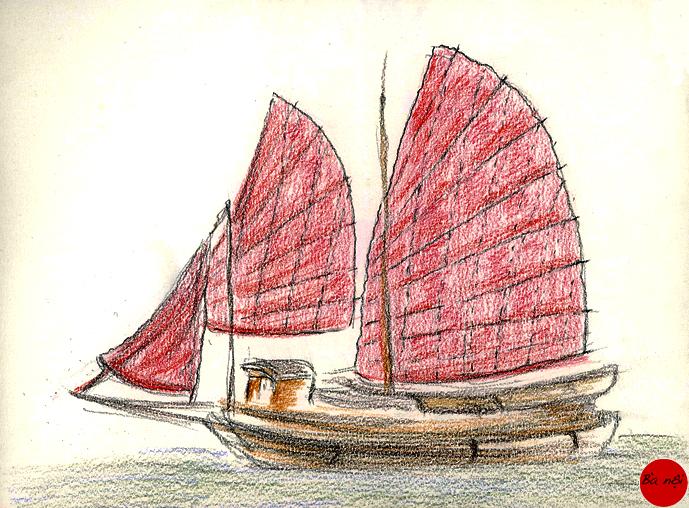 sampan-vitenam-dessin