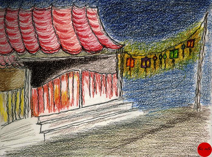 vietnam-dessin-lampions-temple